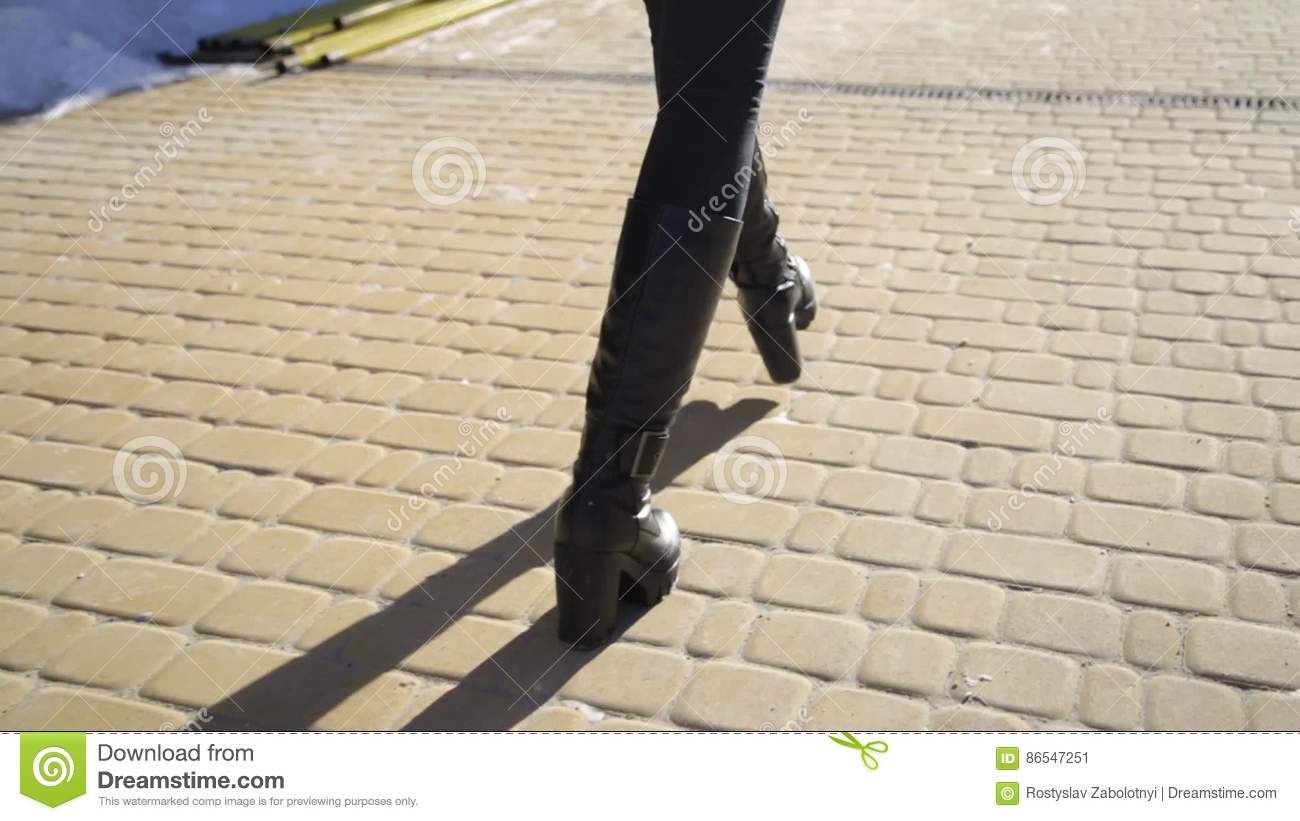 Legs Black Heels Walking In The City Urban Street Business Concept Stock Video Video Of Movement Outdoor 86547251
