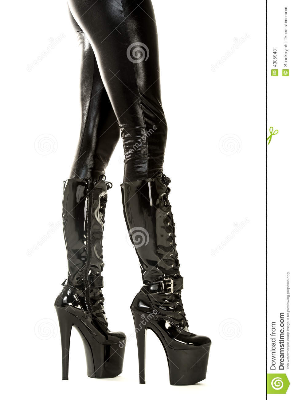 Belt fetish garter heel stiletto