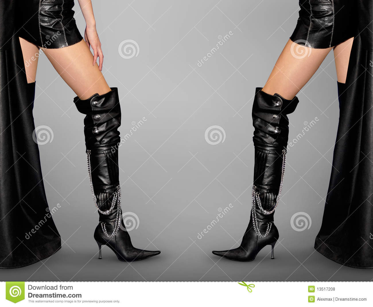 Legs and Stiletto Boots