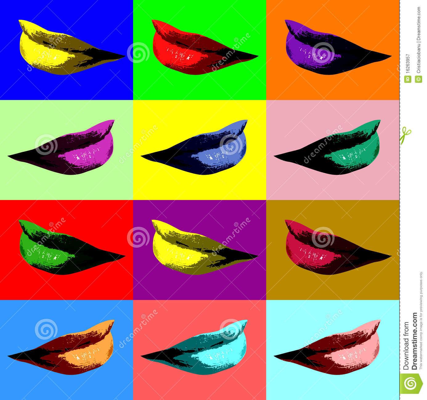 Lips Pop Art Stock Illustration Illustration Of Face 16263957