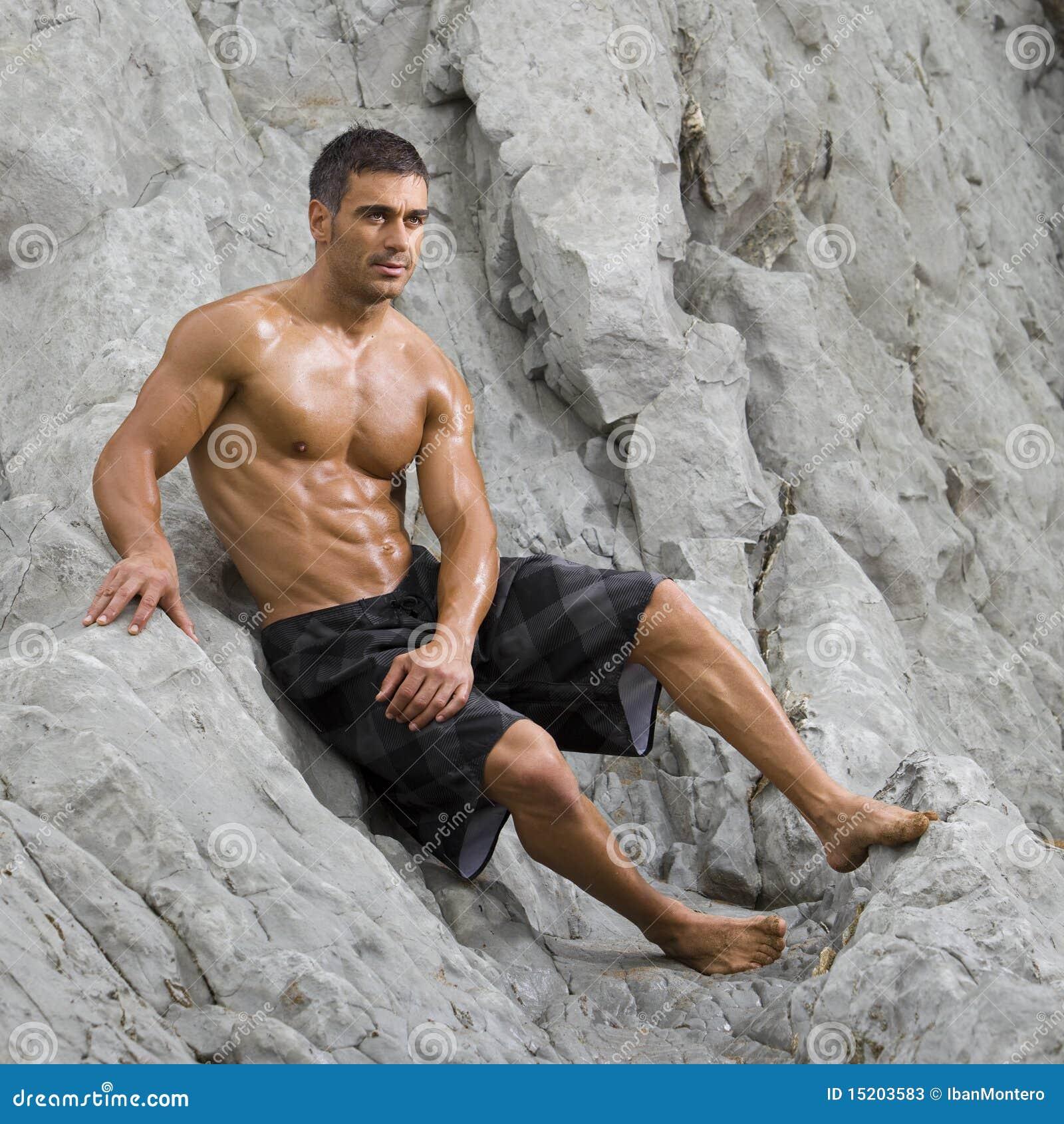 Sexy Man Beach Stock Photos - Image: 15203583