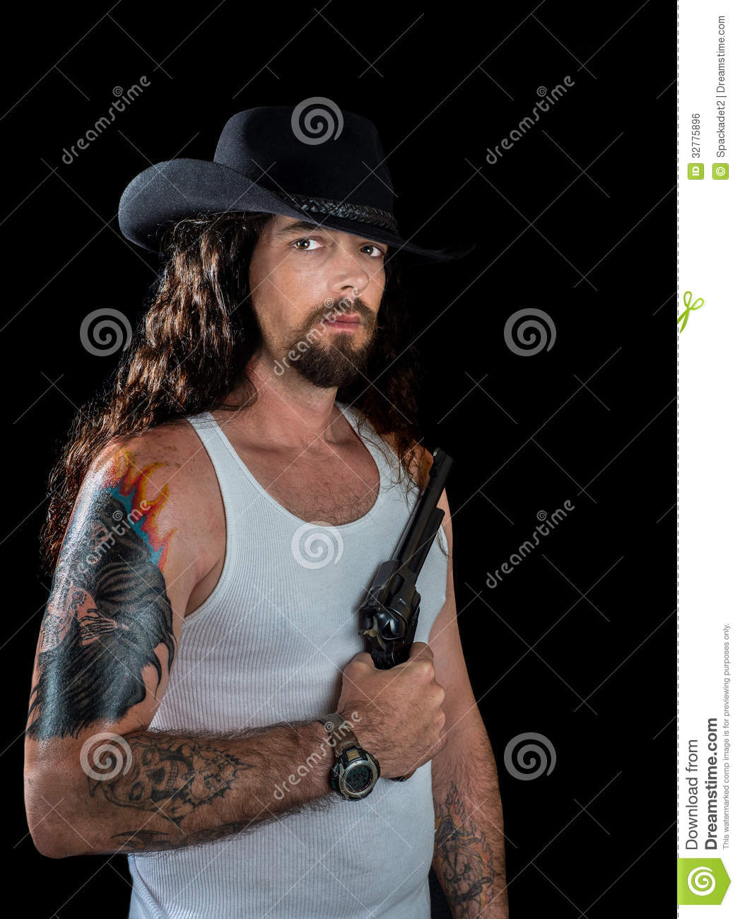 how to wear a cowboy hat with long hair