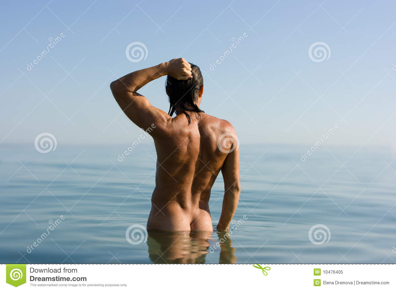 Download Man in water stock image. Image of natural, freedom, figure - 10476405