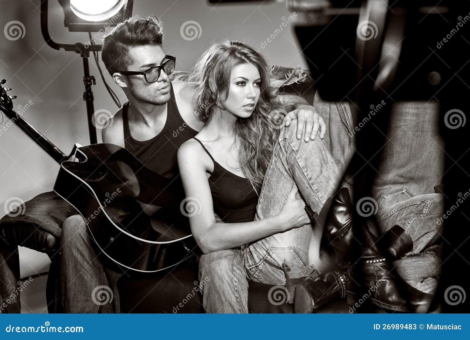 Stock Photos  Sexy Man And Woman Doing A Fashion Photo Shoot