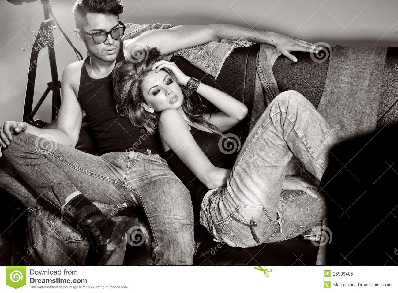 Man And Woman Doing A Fashion Photo Shoot Royalty Free -5954