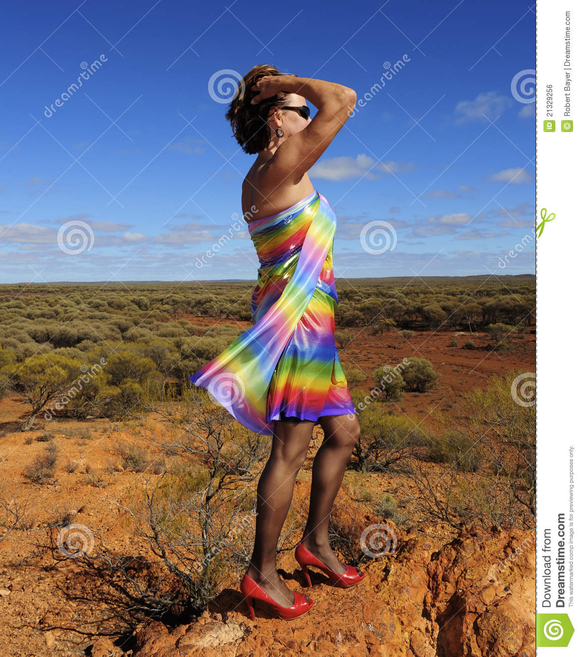 Mature sexy women in nylons Mature Woman In Nature Stock Photo Image Of Nylons Dirt 21329256