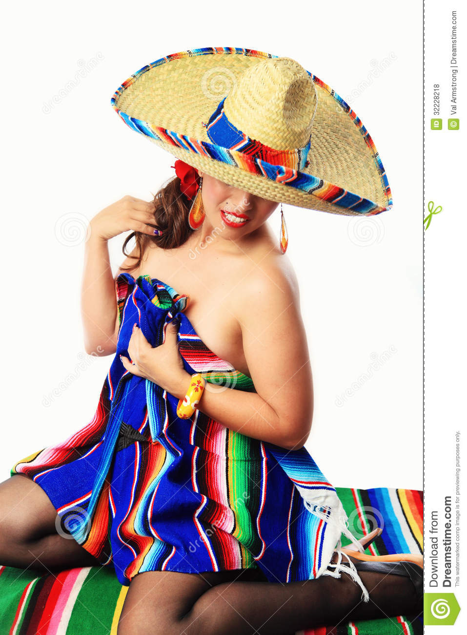 Sexy Mexicaans Pin Up Girl