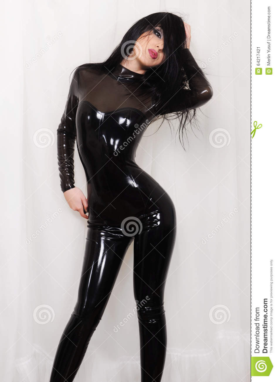 Wearing Latex Catsuit 80