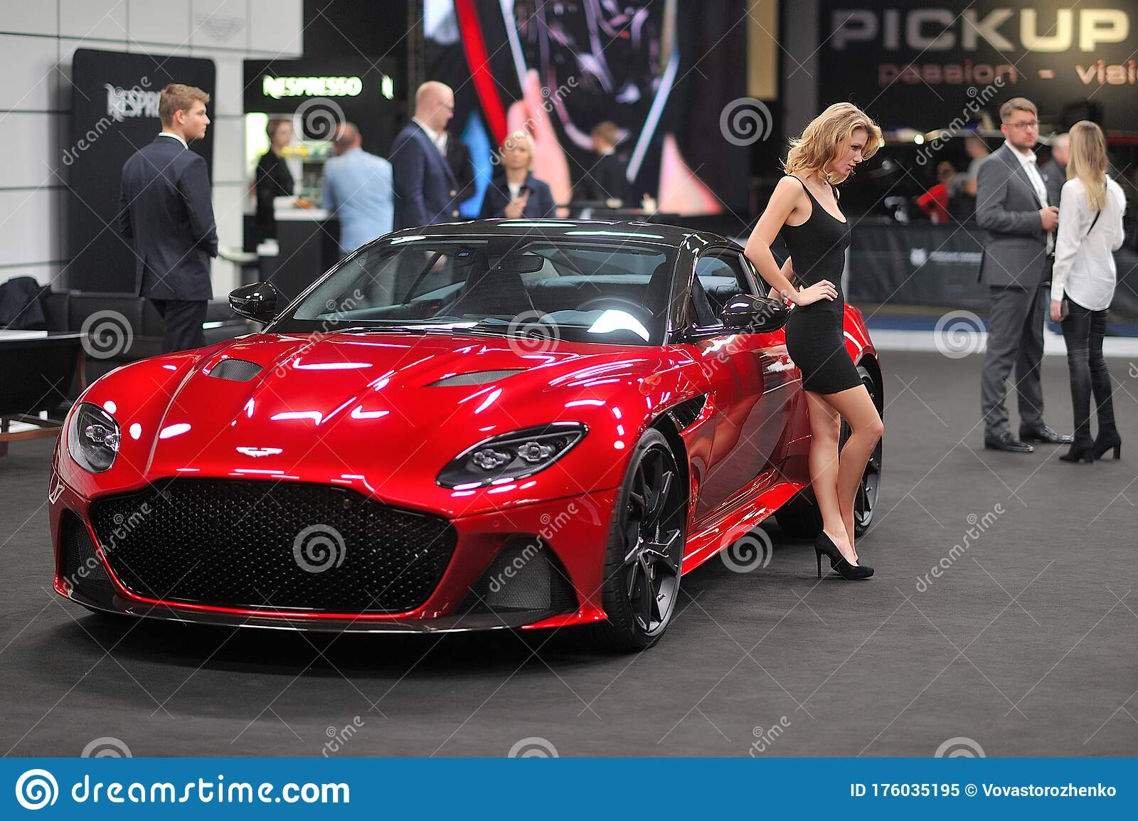 Model With Aston Martin Warsaw Motor Show 2018 Editorial Image Image Of Event Model 176035195
