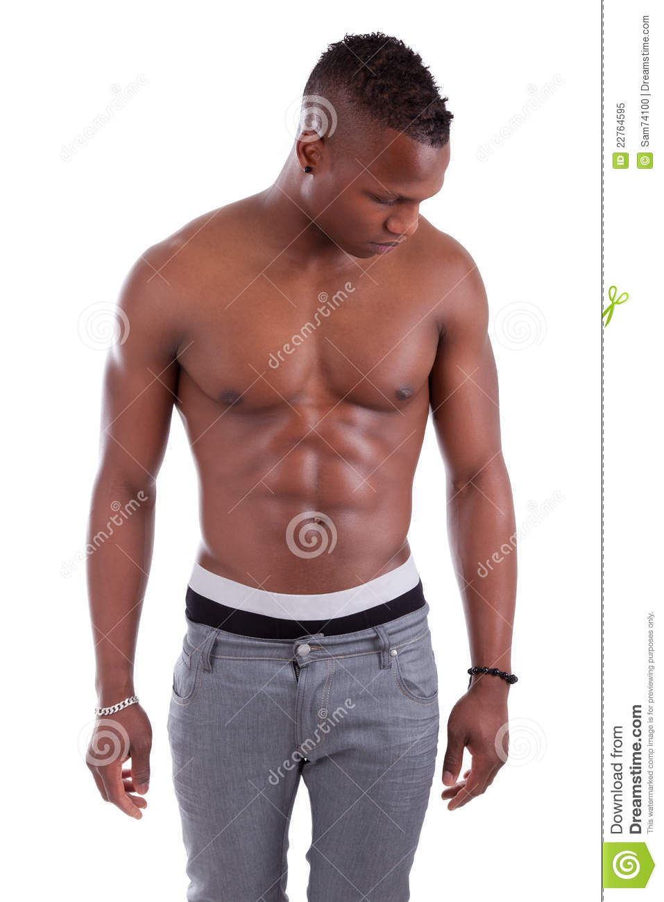 Muscular African American Man Shirtless Royalty Free Stock Photo - Image 22764595-3042