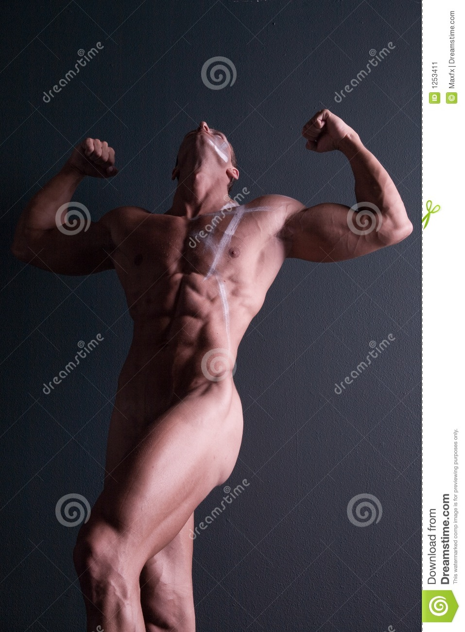 Body Builders Nude Photos muscular nude male body builder stock image - image of