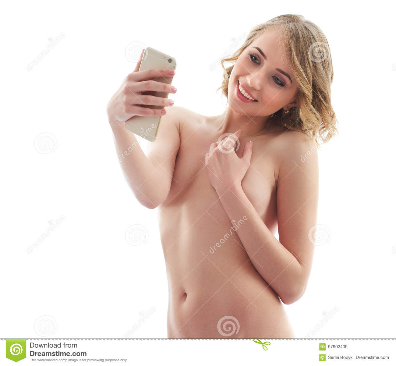 Young women naked selfies