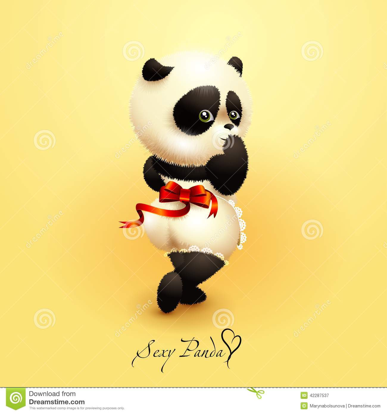 Panda Stock Illustration Illustration Of Yellow Cartoon