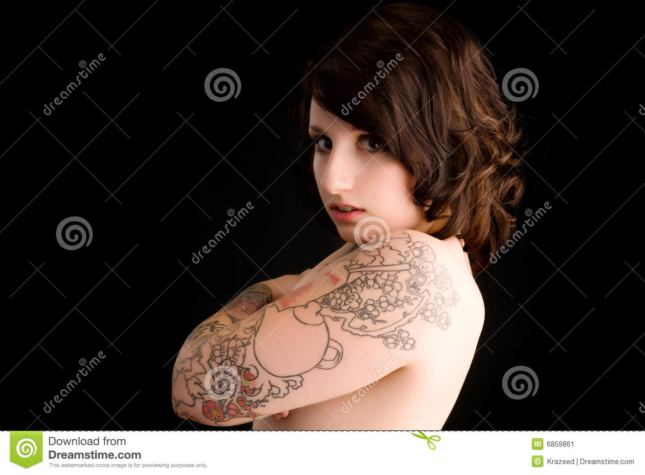 Sexy pin up tattoo girl stock image image 6859861 for Sexy pin up tattoos