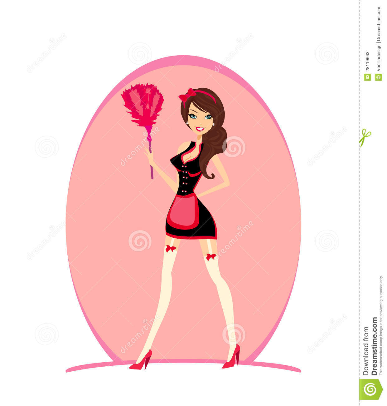 Art Of The Pinup: Pinup Style French Maid Stock Vector. Illustration Of