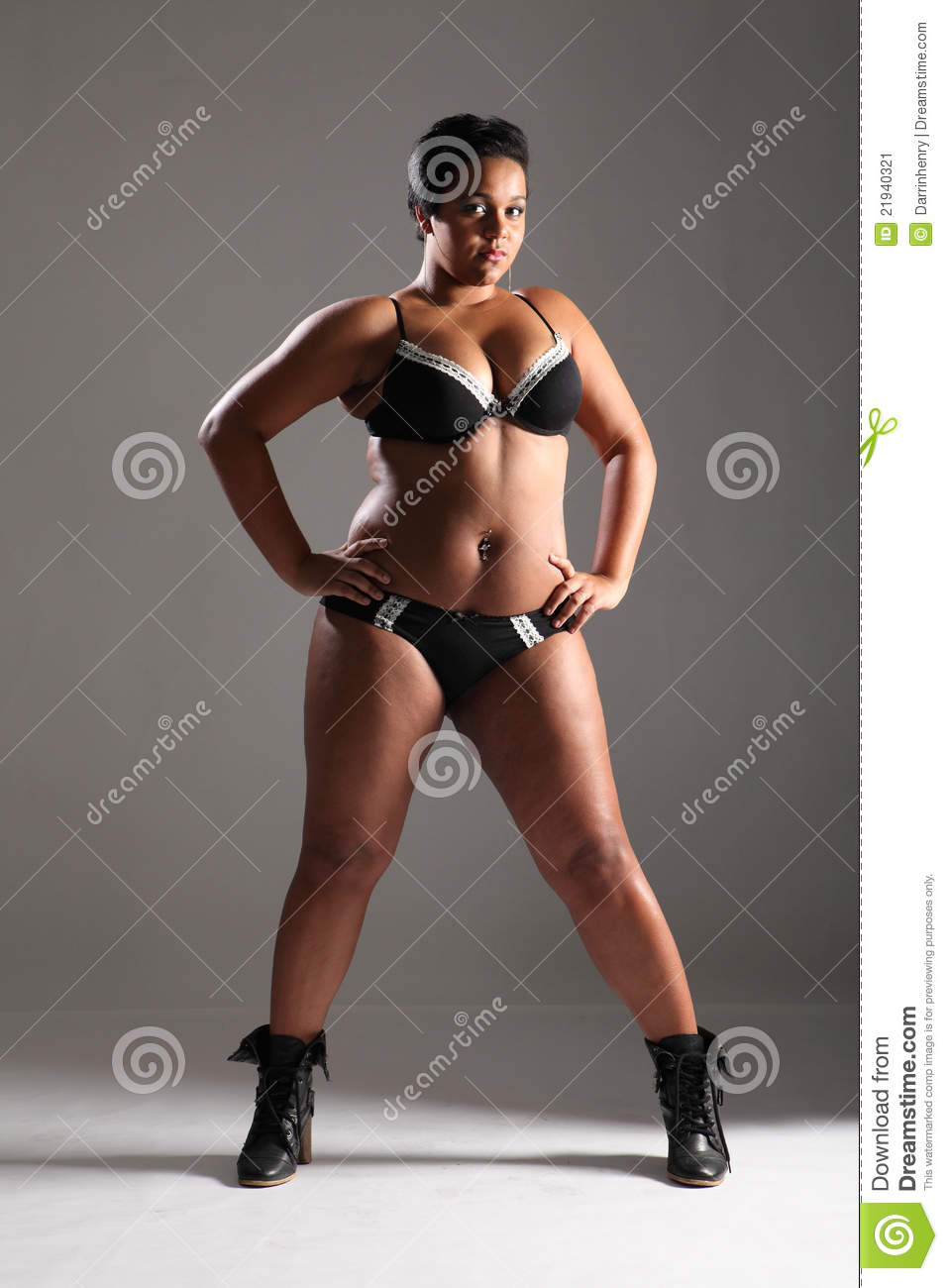 plus size glamour model girl in lingerie stock image - image of