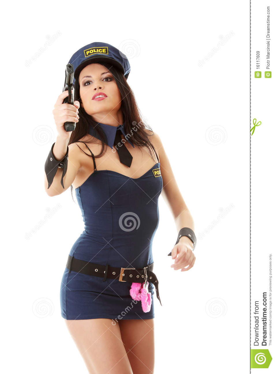 Police Girl Stock Image Image Of Performance, Beauty - 16117609-3804
