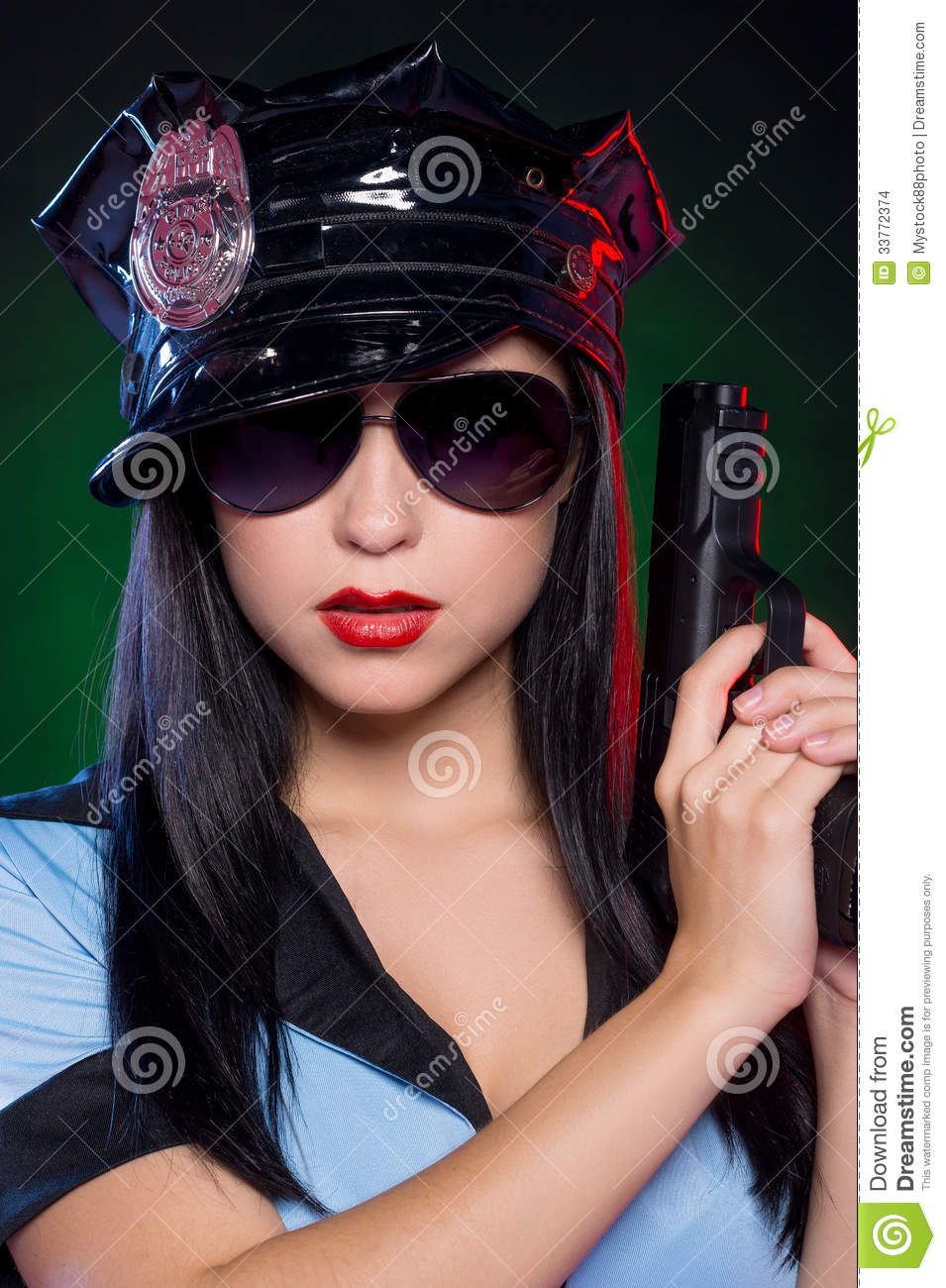 Policewoman Stock Photo Image Of Looking, Glasses, Shot - 33772374