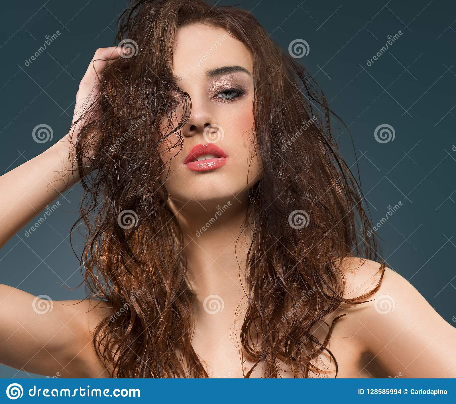 Brunette beauty young portrait