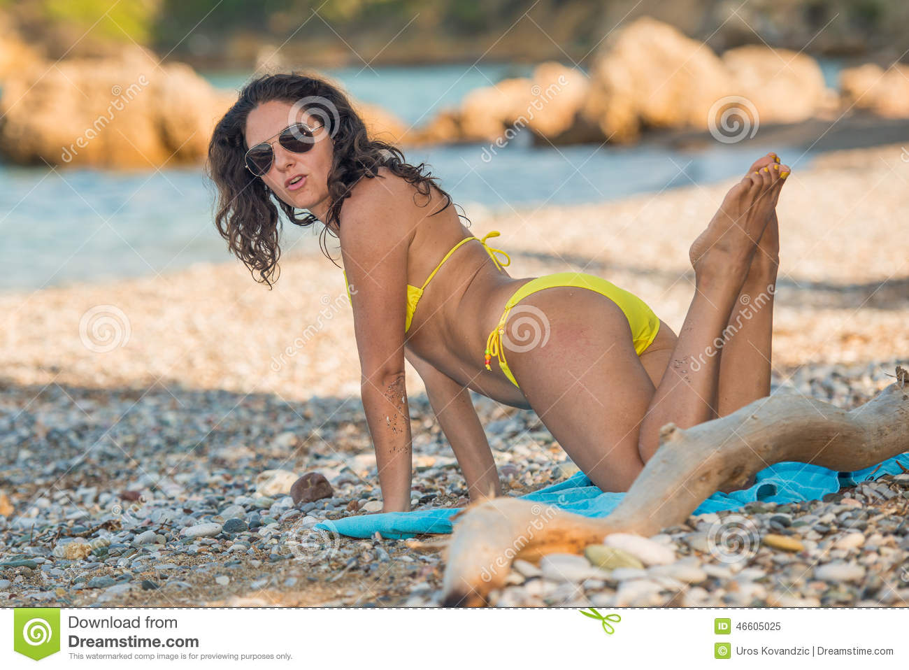 posing on the beach stock image. image of posing, feet - 46605025