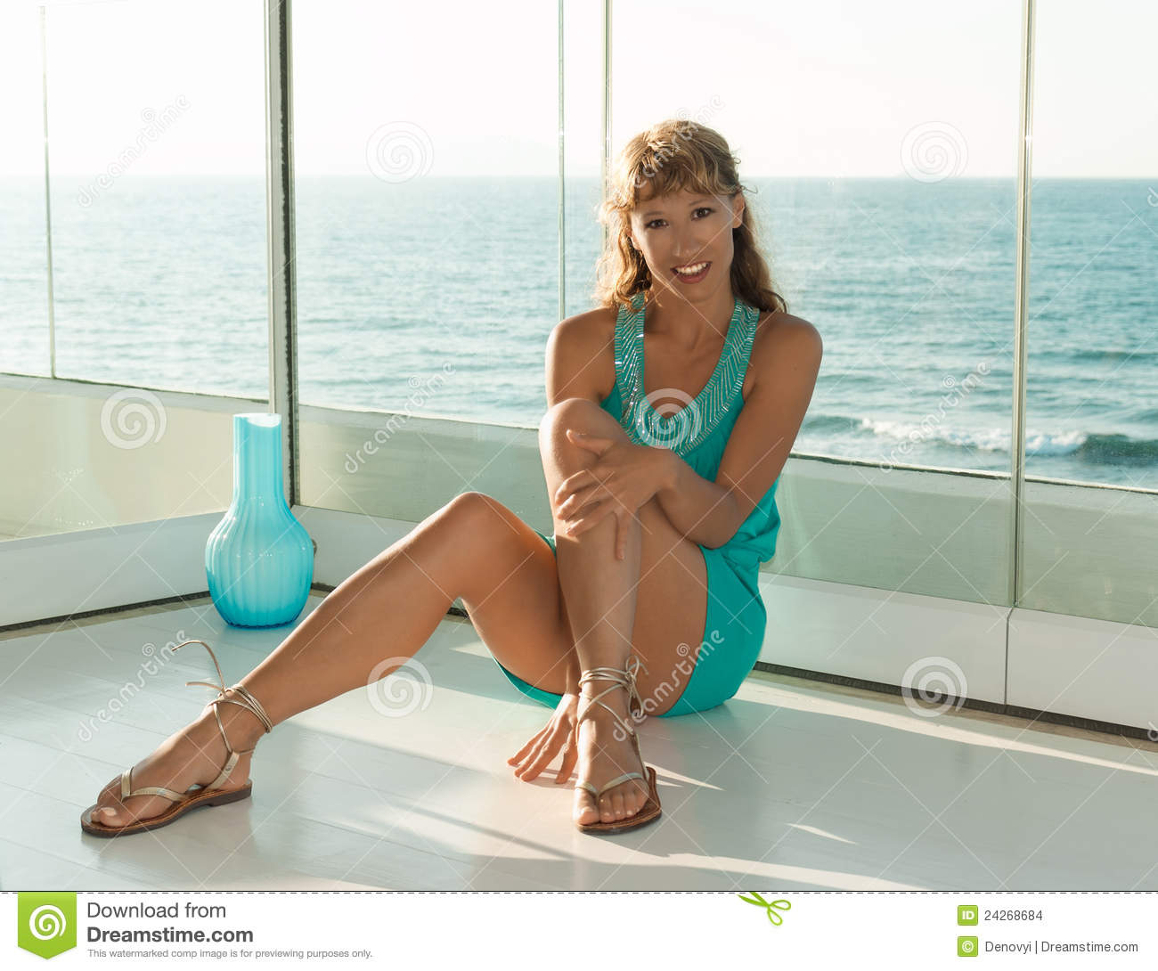Stock Images Sexy Pretty Woman Sitting Floor Image24268684 on One Room House Floor Plans