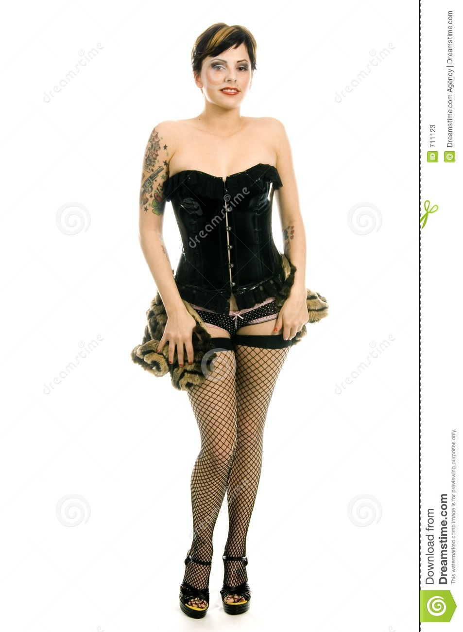Punk Rock Girl Stock Image Image Of Armchair Mystery
