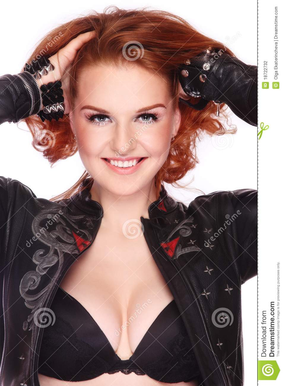 Possible sexy red heads in leather are