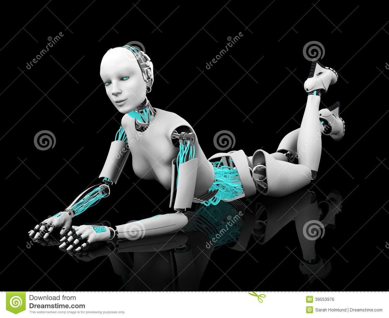 Erotic wallpaper for the robotic table