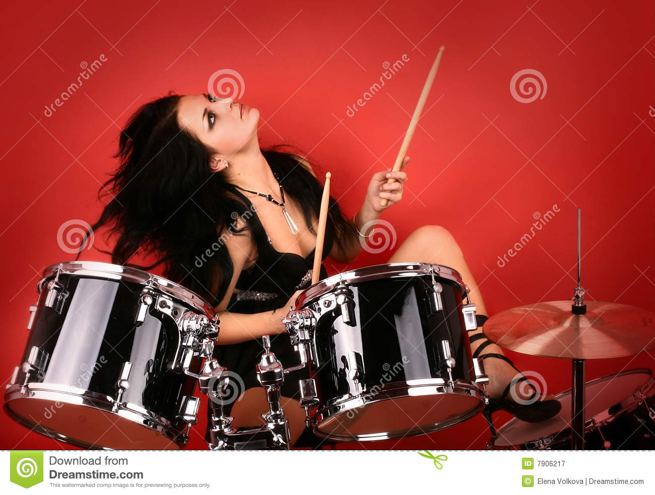 Possible speak Sexy female drummer free photos final