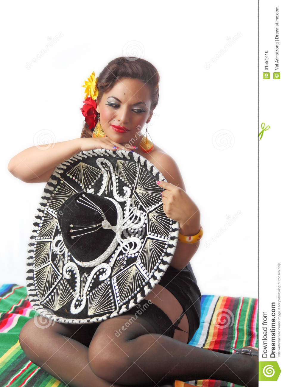 Sexy Schuw Mexicaans Pin Up Girl