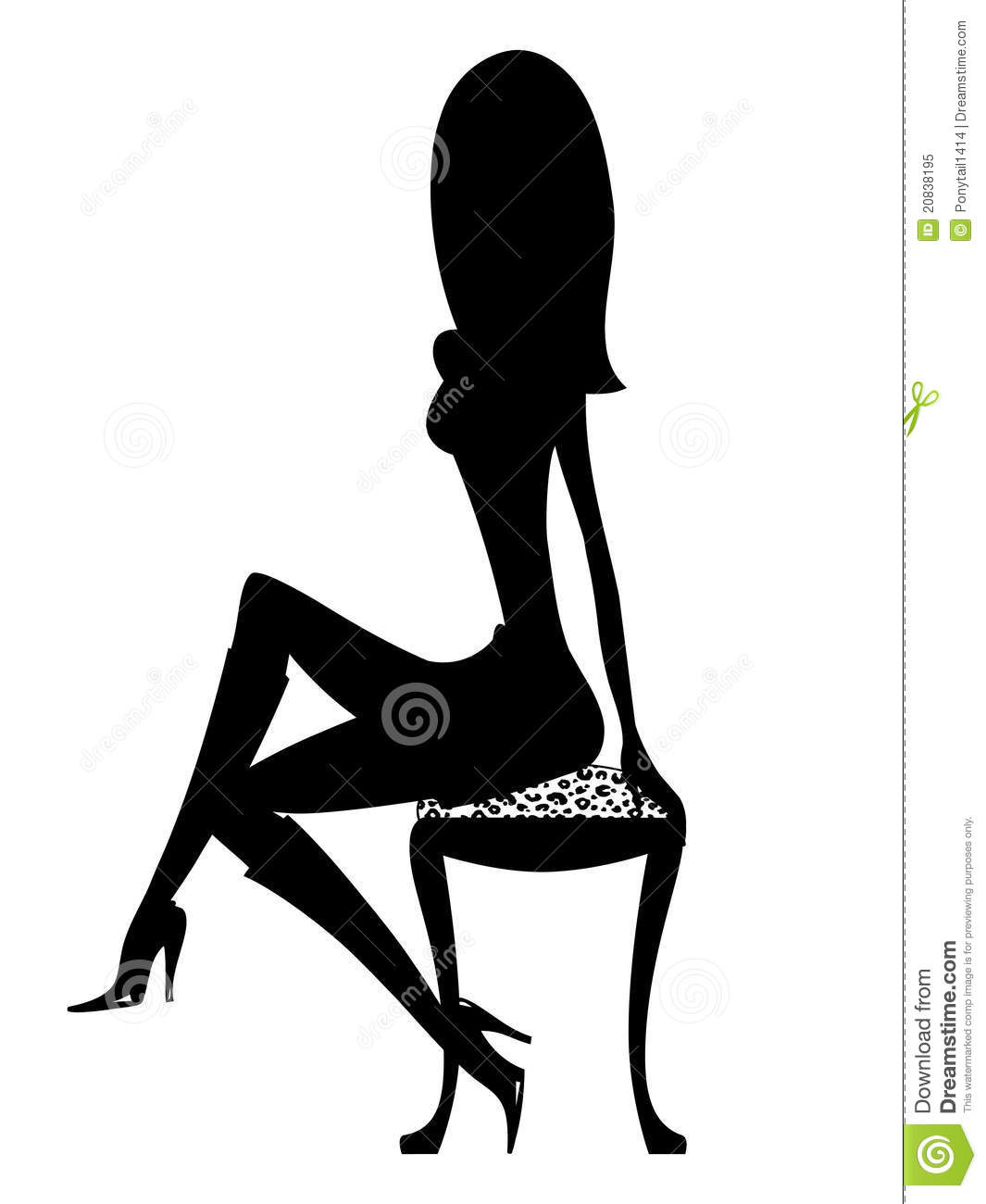 Silhouette Girl In Boots Royalty Free Stock Photo Image