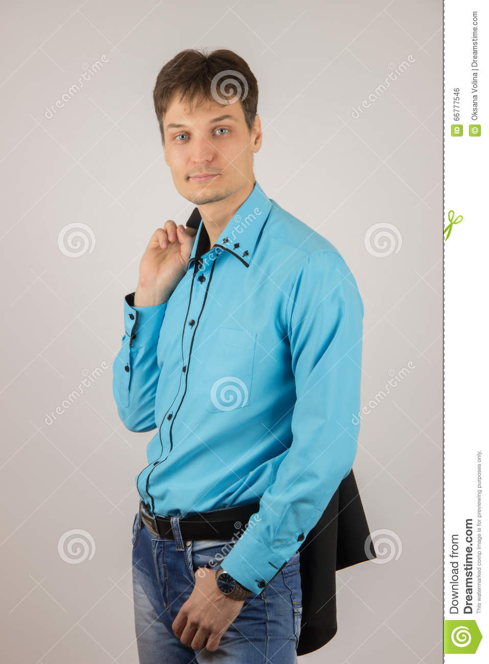 6c061279895 Stylish Young Guy In Jeans