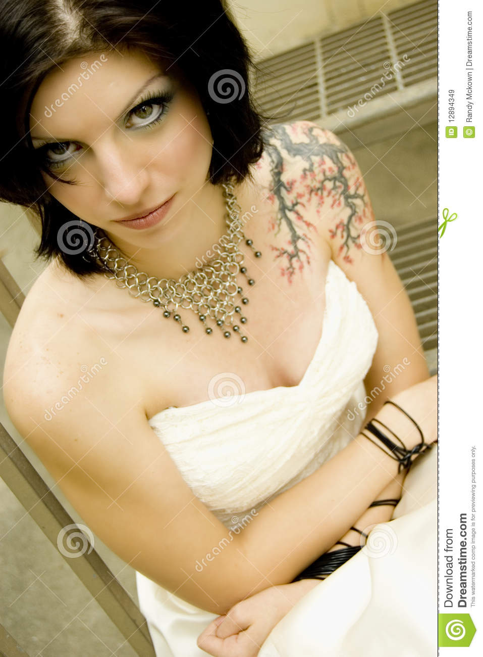 50s Dress Brides With Tattoos