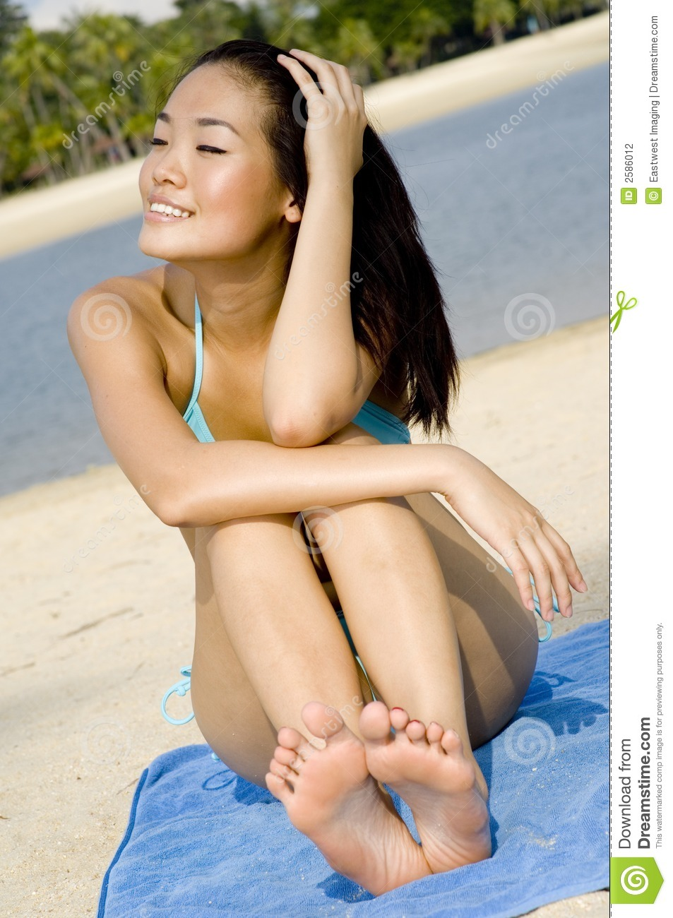 Sexy Vrouw op Strand