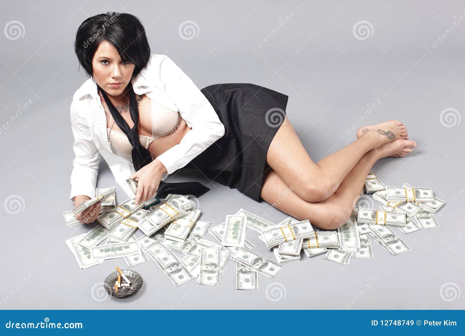 contant geld dansers brunette
