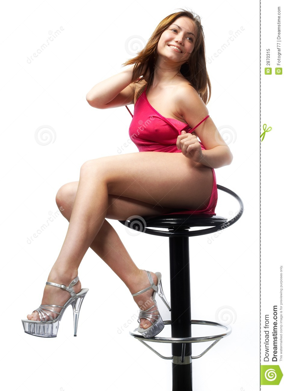 stool bar Girl on