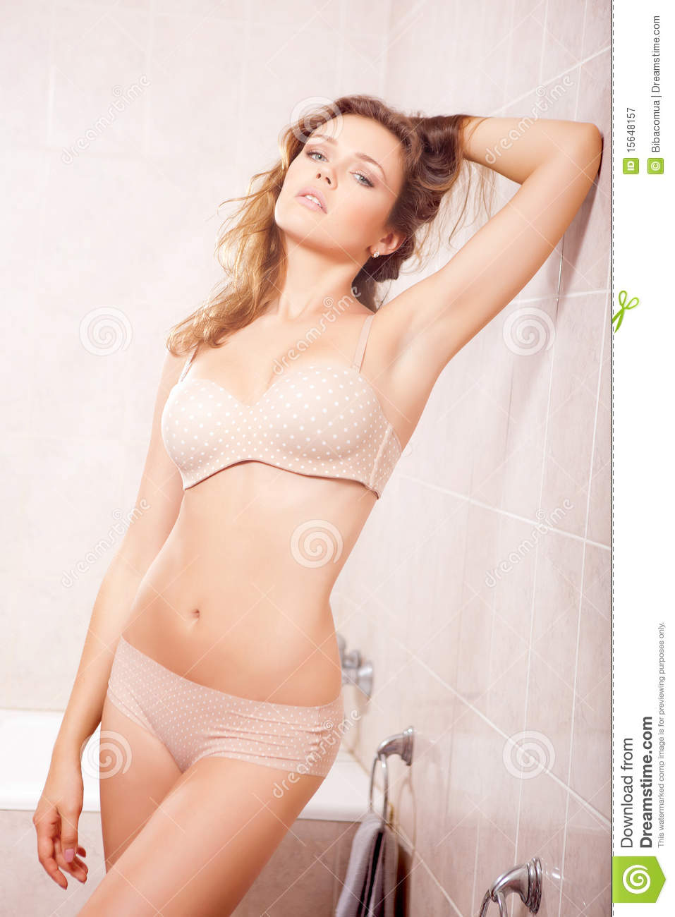 Sexy Woman In Bathroom Royalty Free Stock Photography