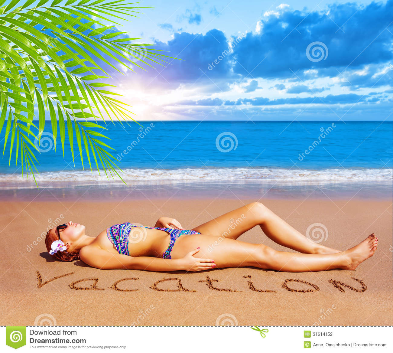 ... dayspa, luxury tropical resort, summer holiday and vacation concept: dreamstime.com/stock-photography-sexy-woman-beach-laying-down...