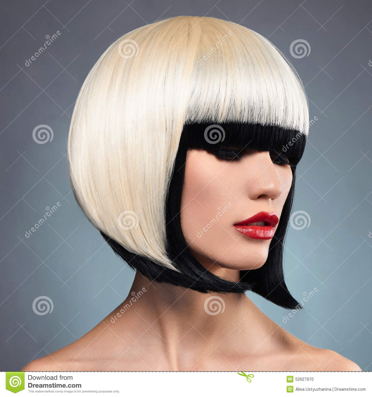 Sexy Woman With Bob Hairstyle Stock Photo Image 52627970