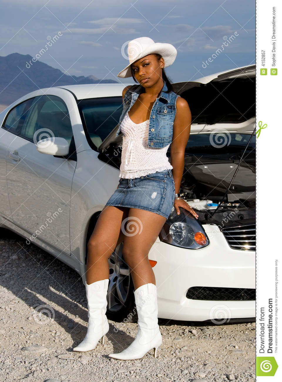 Sexy Woman And Car Royalty Free Stock Photography Image