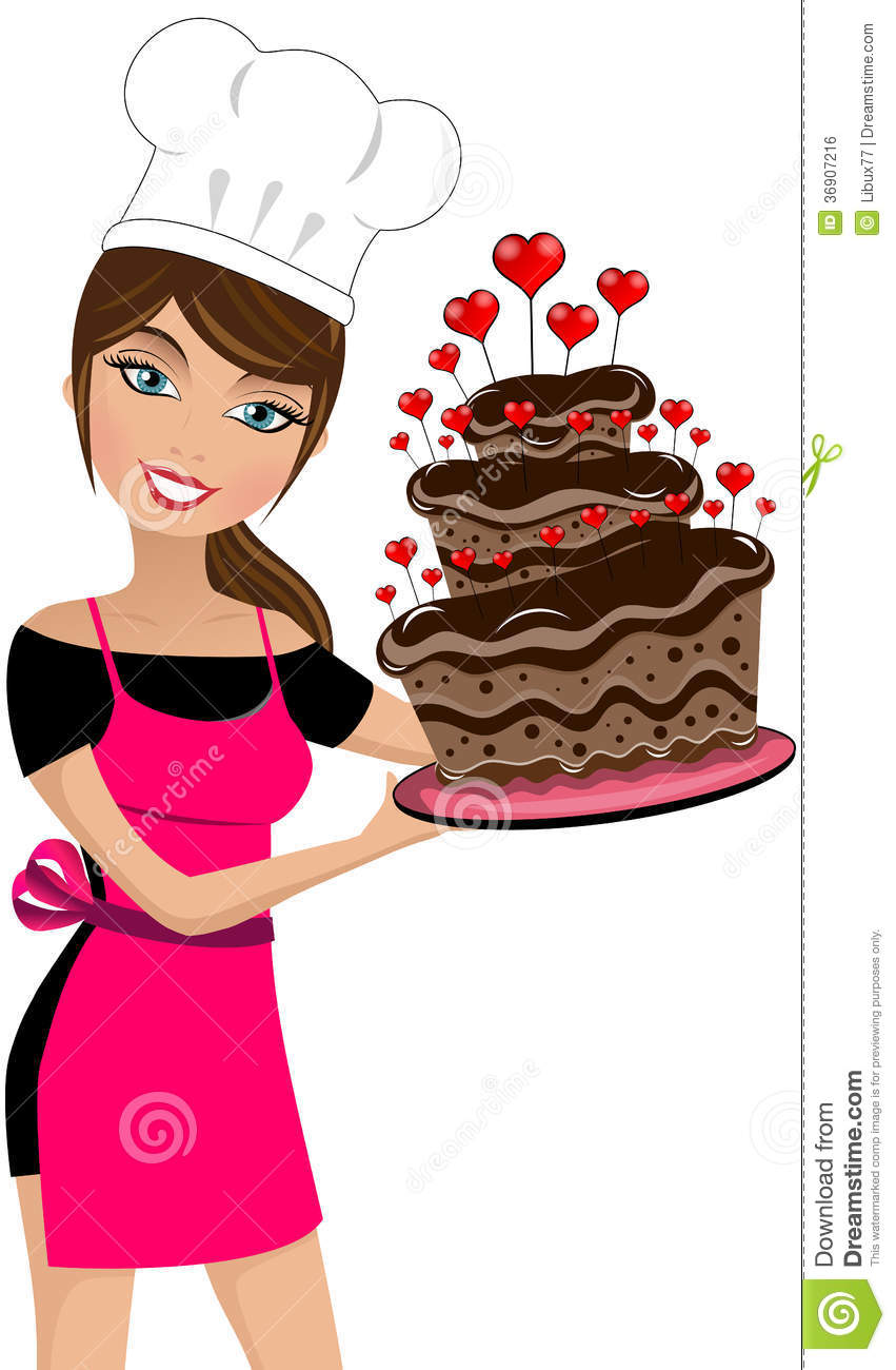 Lady Holding Birthday Cake