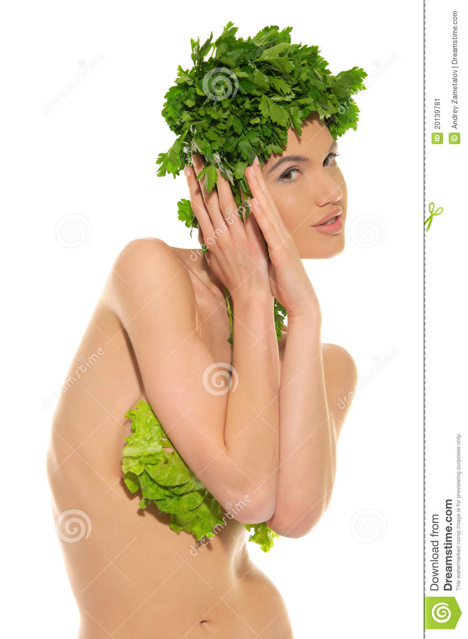 hot nude women with vegetables