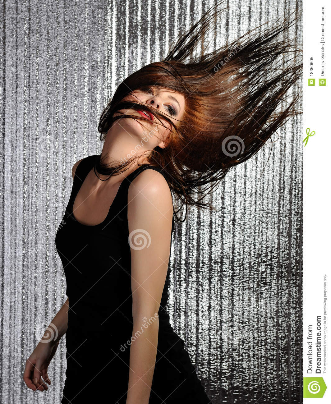 Woman Clubbing Dancing In The Disco Royalty Free Stock