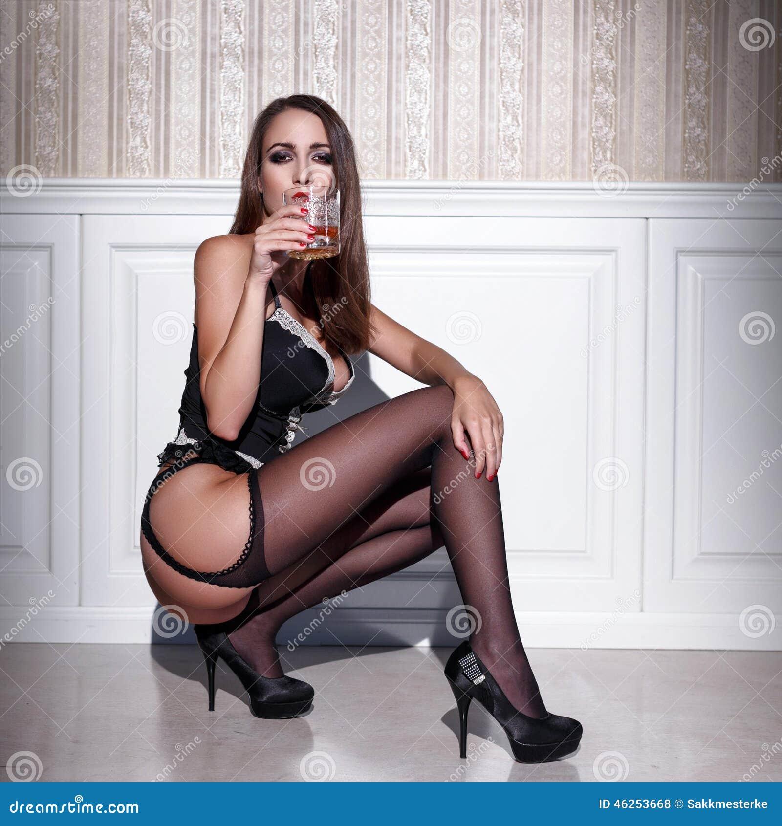 Black booty tube