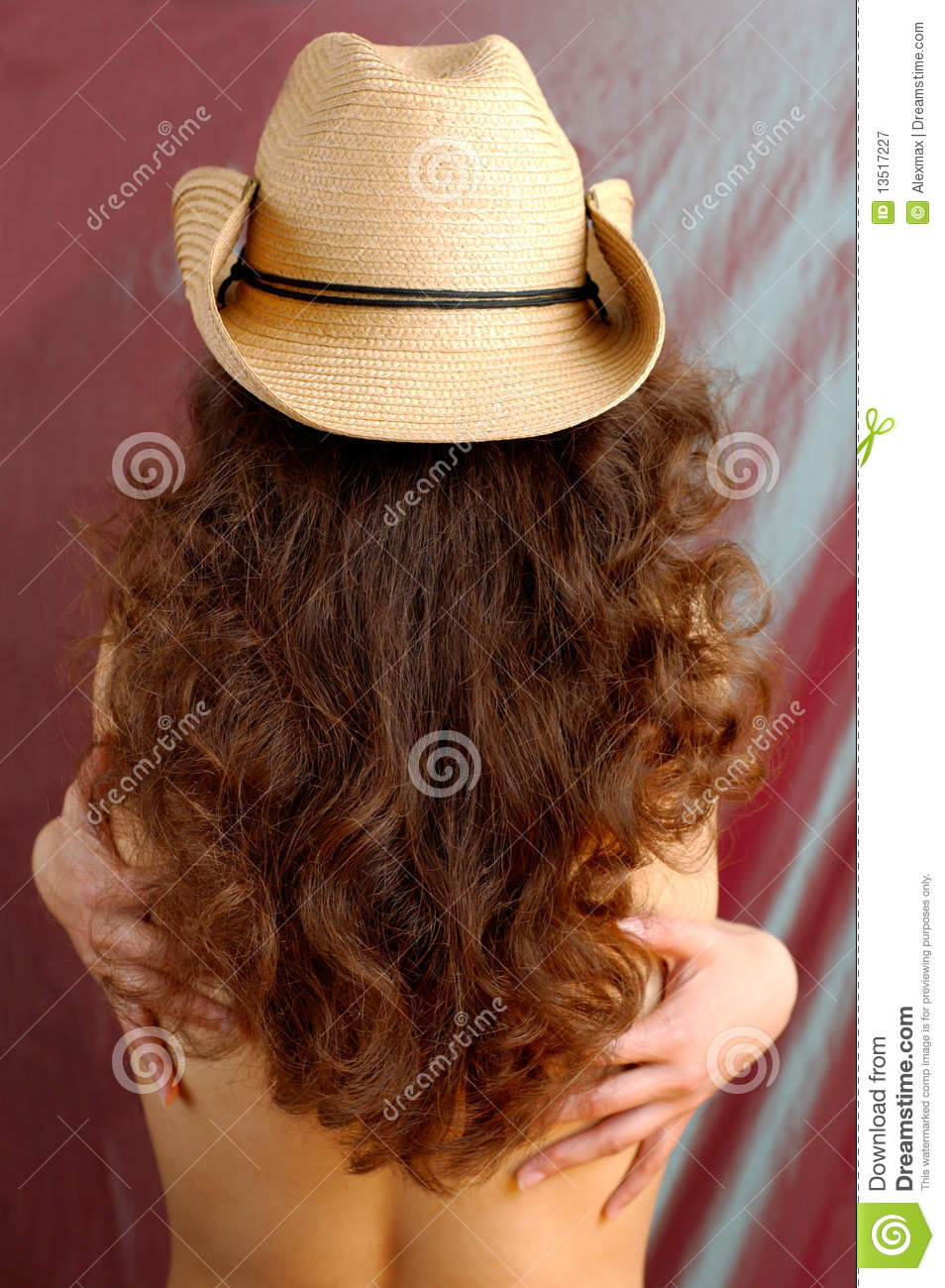 Download Woman in a Cowboy Hat stock image. Image of long, curly - 13517227