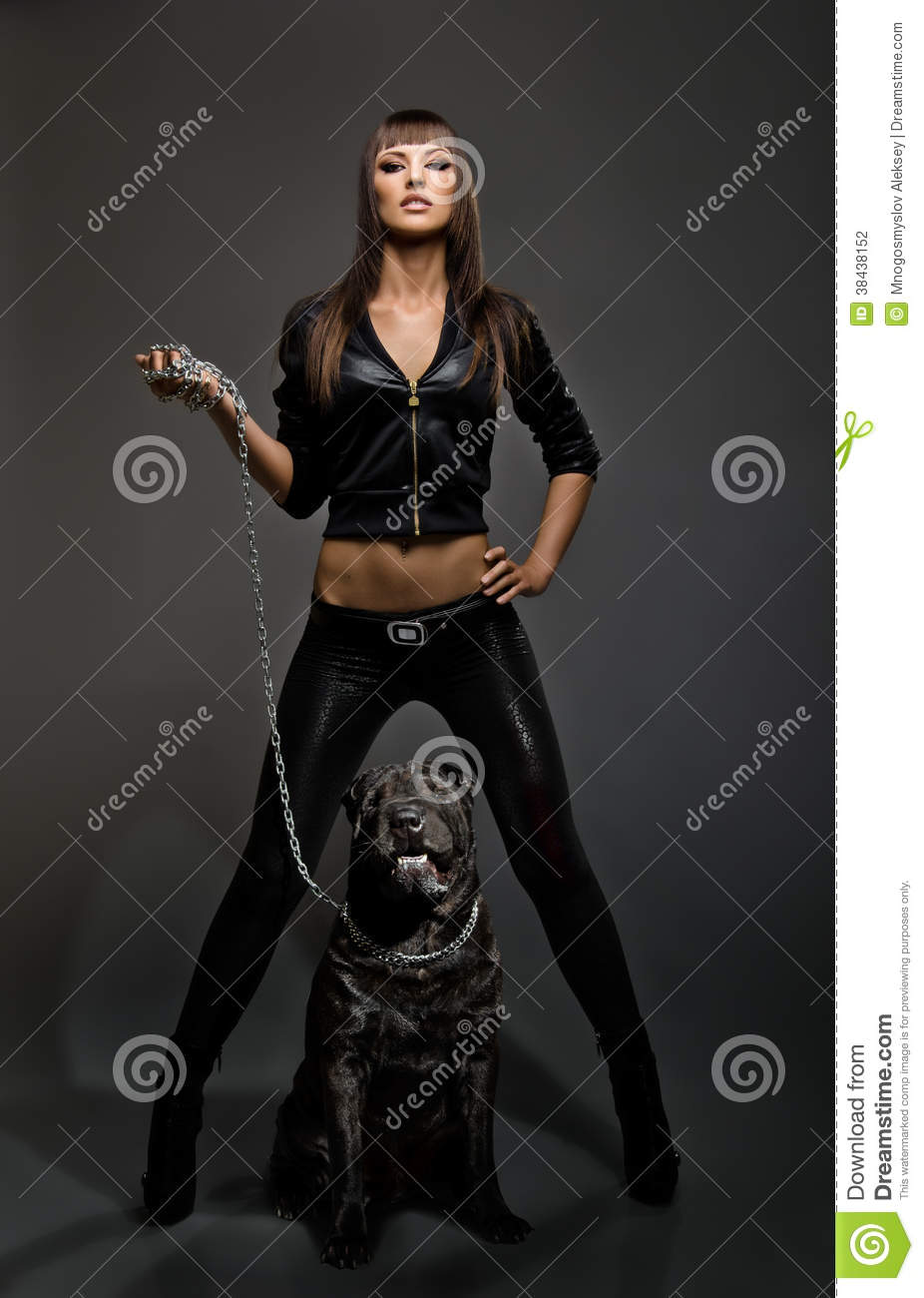 woman with dog stock photo image of lady pretty passionate 38438152. Black Bedroom Furniture Sets. Home Design Ideas
