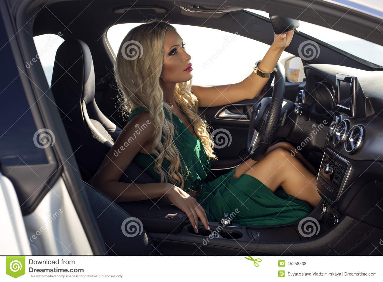 sexy women driving cars