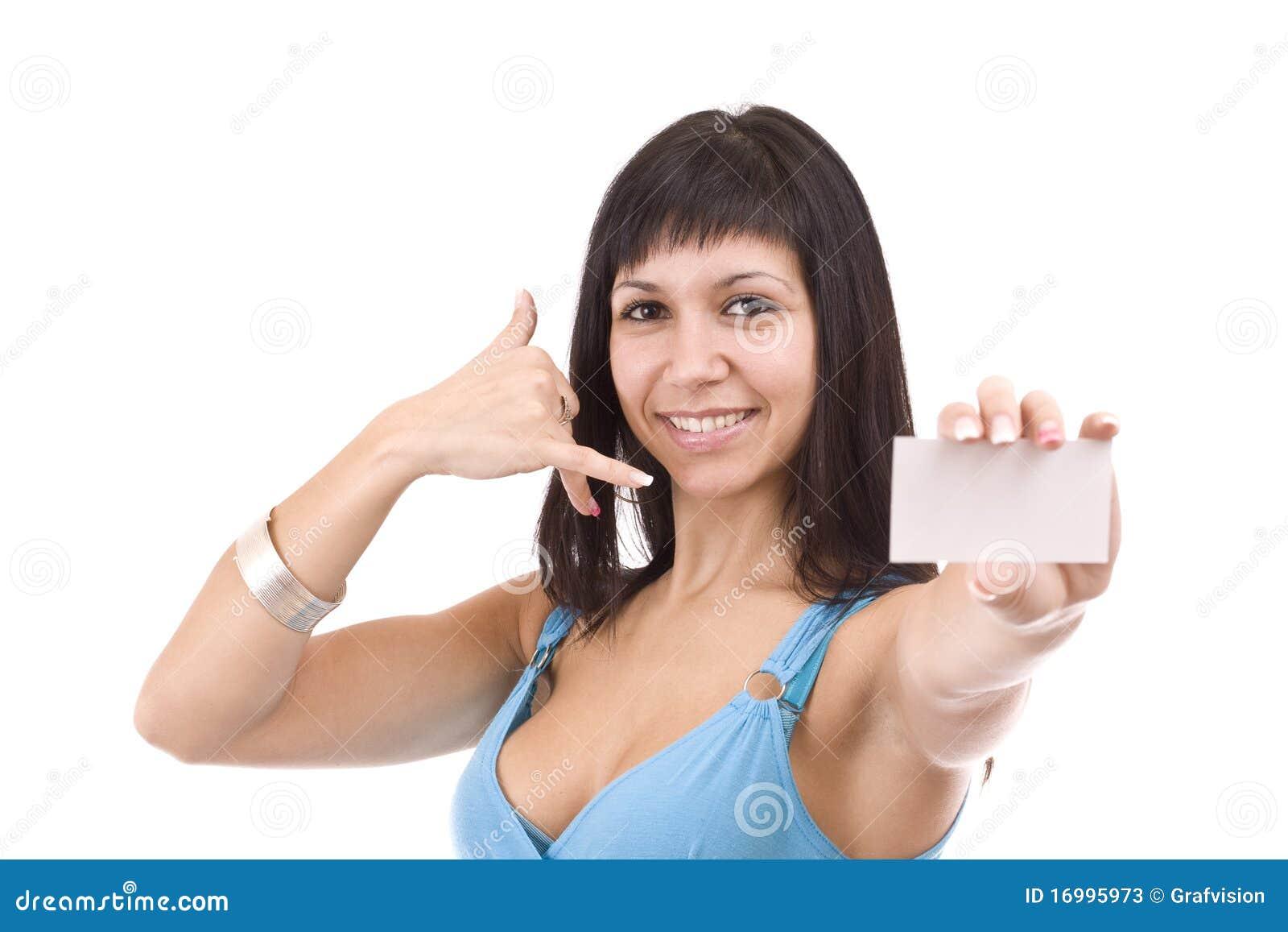 Woman handing business card stock image image of lifestyle face woman handing business card colourmoves