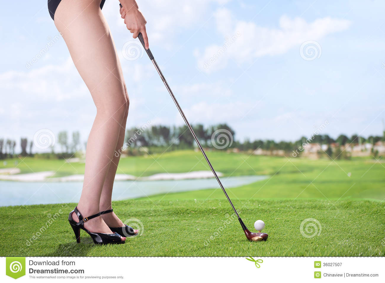 Sexy Woman Playing Golf Royalty Free Stock Photography - Image ...
