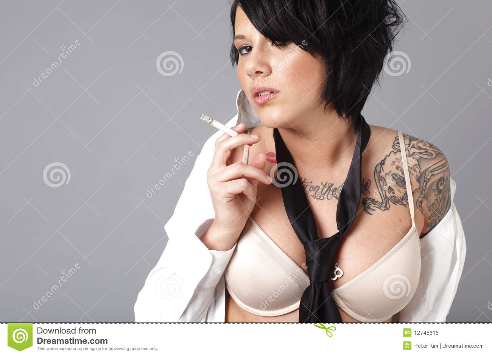 Cigarette sexy smoker smoking woman
